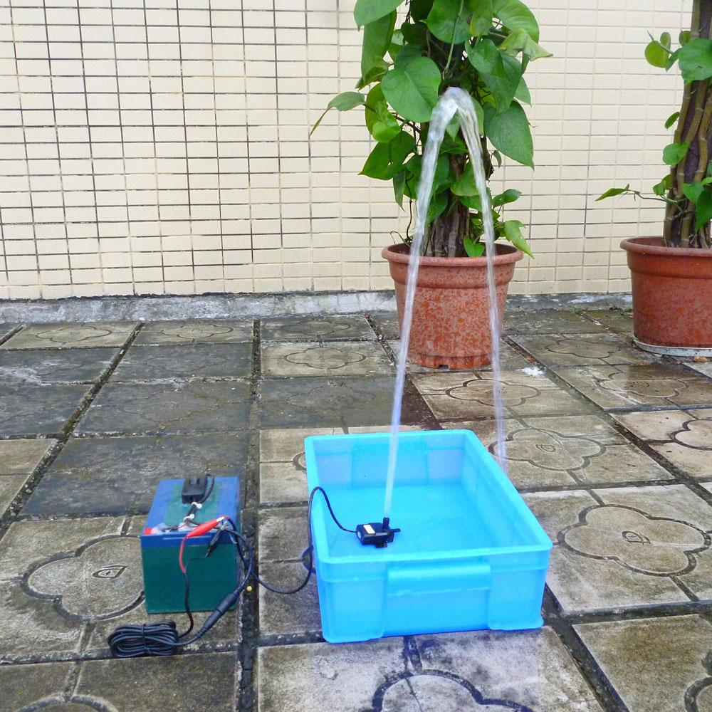9w mini wasserpumpe im freien garten yard pool teich brunnen kit 450cm 12v w2r7 ebay. Black Bedroom Furniture Sets. Home Design Ideas
